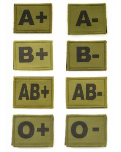 Blood Group Badges Olive