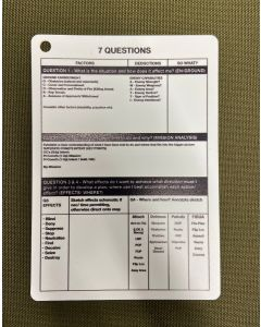 A6 - Printed 7 Questions Plastic Battle Slate Card (Double Sided)