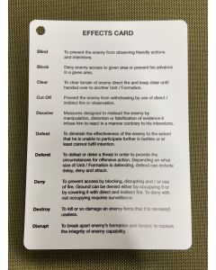 A6 - Printed EFFECTS Plastic Battle Slate Card (Double Sided)