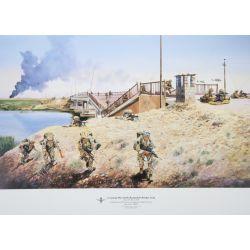 Para Reg Print Crossing the North Rumaylah Bridge Iraq